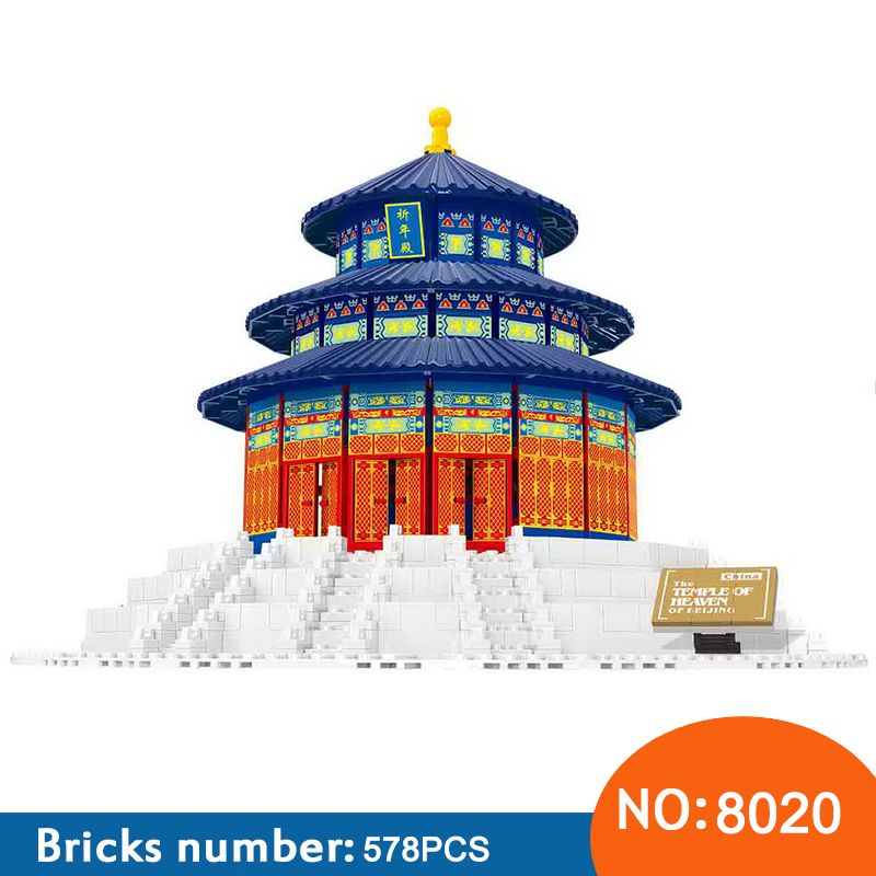 Wange 8020 1052pcs The TEMPLE OF HEAVEN OF BEIJING World's Great Architecture Building Blocks Bricks Toys For Cheldren essence es 6212me 330 essence