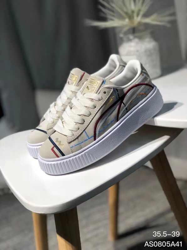newest 7be9f 3e4dd PUMA rihanna PUMA ii generation grey electric embroidery 2018 New women's  casual sports shoes Badminton Shoes 36-39