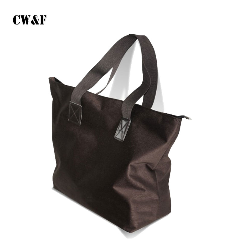 New Shopping Bag Travel Hand Carry Large Green Cloth Convenient Shoulder Bag