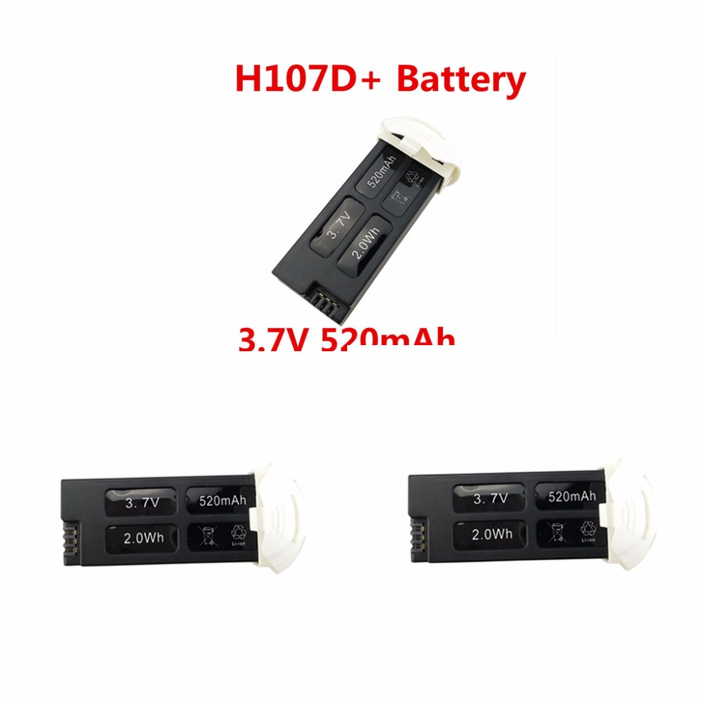 UAV Battery Accessories Lithium Battery 3.7V 520mah for 3PCS Hubsan FPV X4 PLUS H107D +