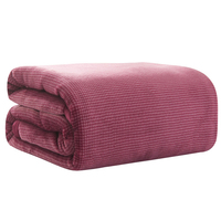 Thick Warm Chunky Flannel Blanket Super Soft Coral Fleece Mink Throw Sofa Cover Bedspread For Bed Fluffy Faux Fur Plaid Blankets
