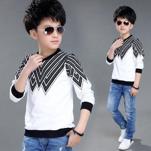 2017 Худи Для Мальчиков Кофты с модным принтом хлопковая детская одежда Для детей Худи футболки; Бесплатная доставка