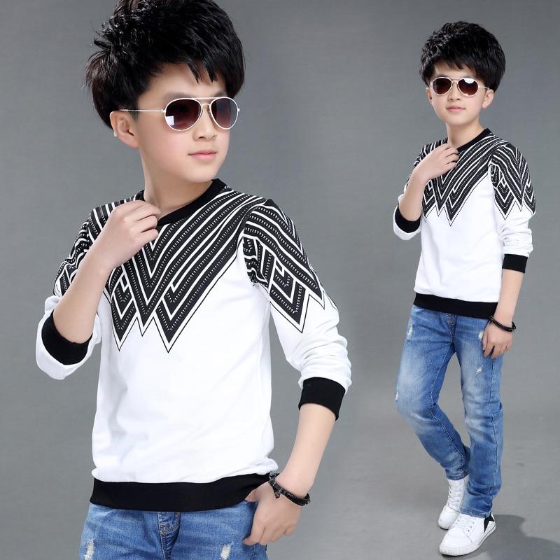 2019 Hoodies For Boys Long Sleeve T Shirts Fashion Printed Cotton Children Clothing Children Kids T Shirts Tops Free Shipping