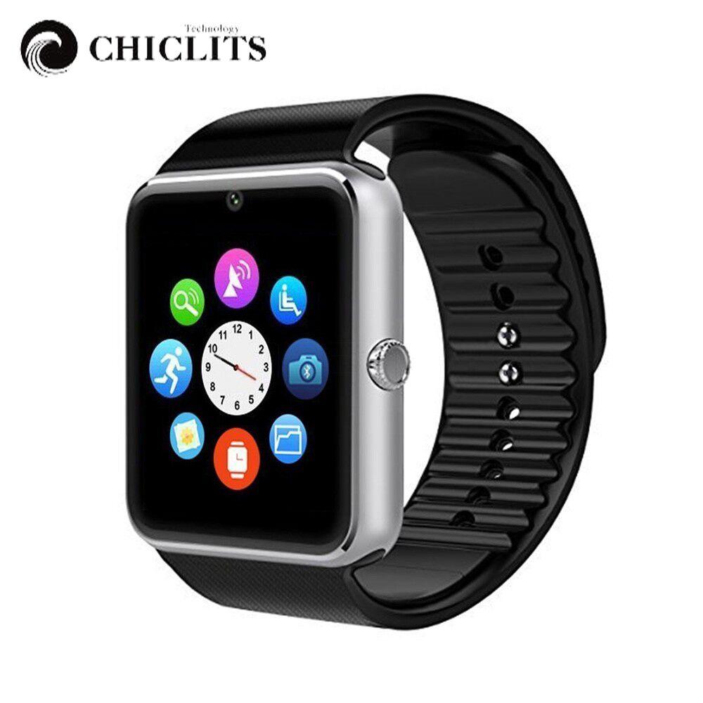 Astuto Della Vigilanza GT08 di Sincronizzazione di Notifier Connettività Bluetooth Della Vigilanza del Android Del Telefono Carta di Sostegno Sim Smartwatch Orologio Da Polso PK DZ09