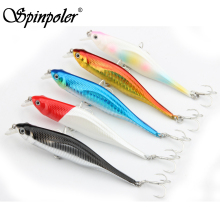 2017 Spinpoler New Fishing Lures,Minnow Crank 11cm 11g.Artificial Japan Hard Bait Wobbler Swimbait Hot Model Crank Bait 5 Colors