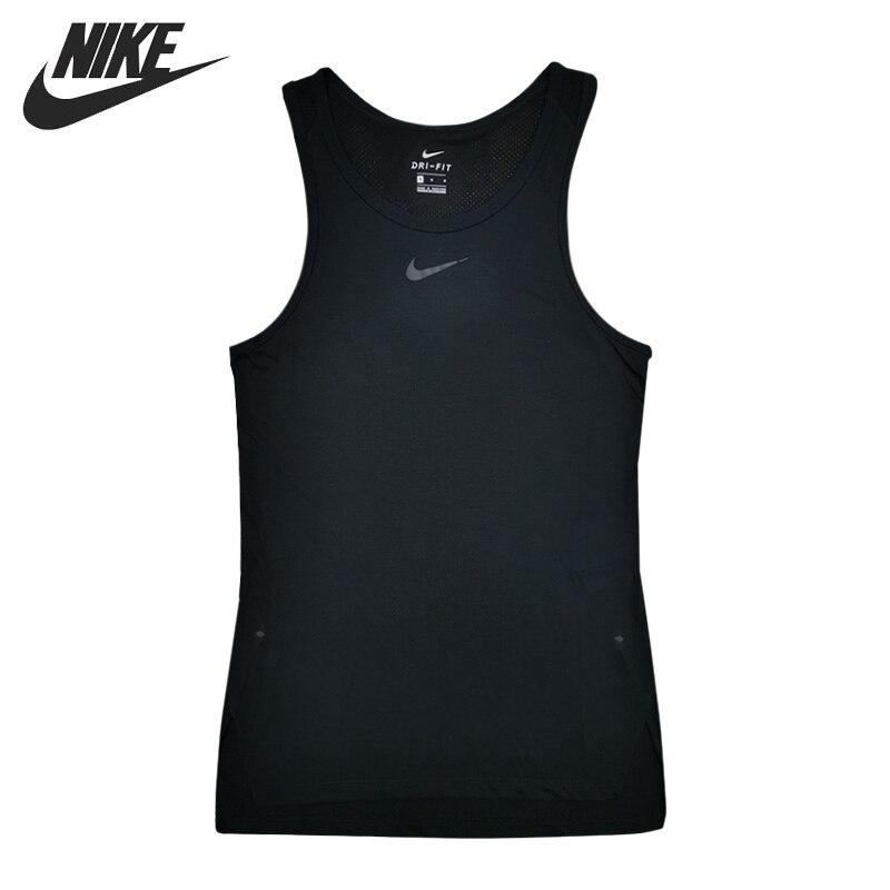 Completamente seco Abrazadera Parte  Original recién llegado NIKE camisetas para hombre vestimenta deportiva sin  mangas|Chalecos para correr| - AliExpress