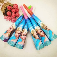 6pc/set Kids  Anna And Elsa Princess Party Noise Horn & Trumpet Birthday Decoration Supplie Blowouts Whistles