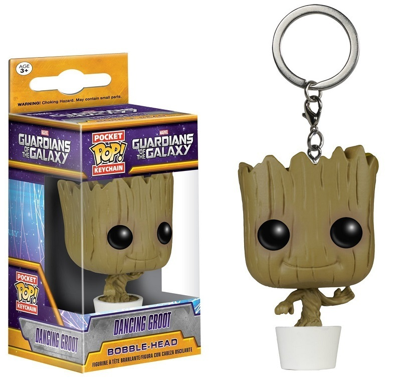 Funko POP Movies Keychain: Guardians of the Galaxy - Baby Groot Keychain new funko pop guardians of the galaxy tree people groot