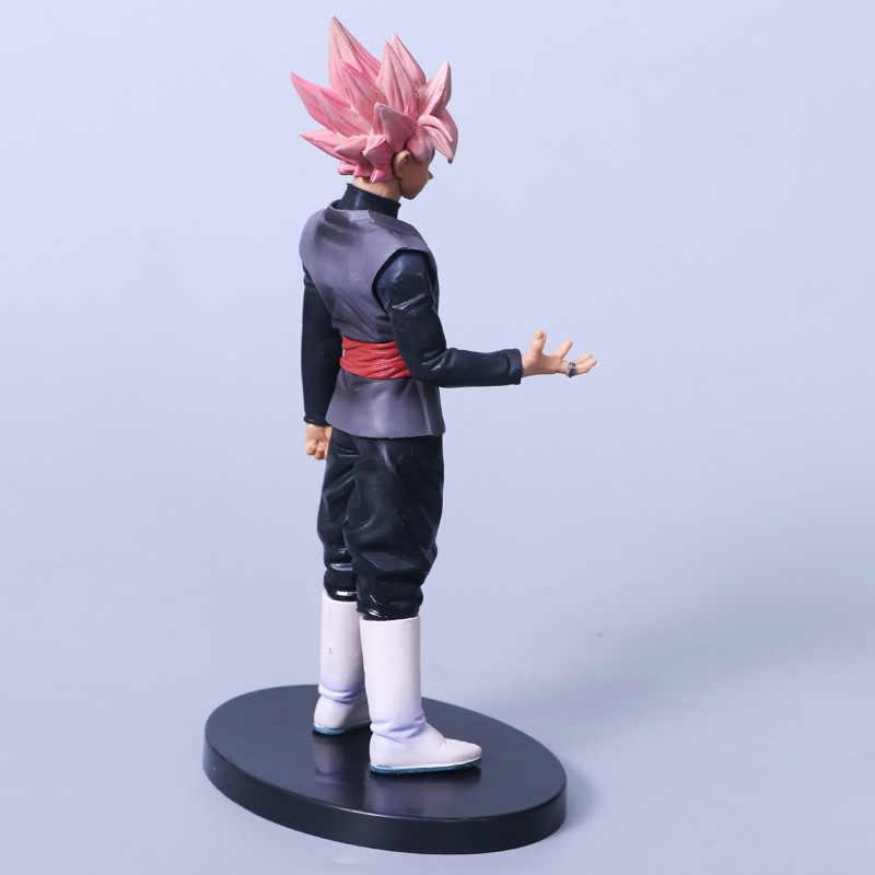 2018 NOVA alma X alma De Dragon Ball Z Super Saiyan Goku Cabelo Rosa Preto Action Figure Dragonball Goku PVC modelo Boneca Brinquedos
