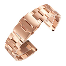 High Quality Strap Solid Beaded Bracelet Ladder Stainless Steel Watch Strap Steel Strap Men's Watch Accessories sandro ferrone майка