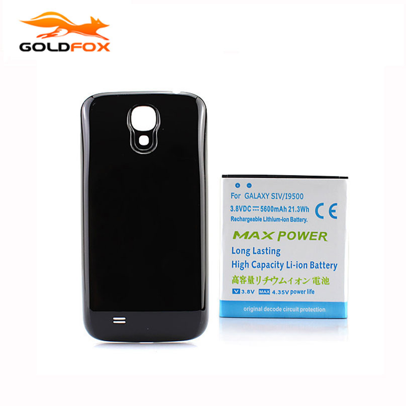 5600mAh Extended Phone <font><b>Battery</b></font> For Samsung Galaxy <font><b>S4</b></font> i9500 <font><b>Battery</b></font> Free Shipping wholesale + Back <font><b>Cover</b></font> Case