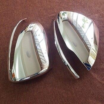 2 قطع الكروم الفضة مرآة غطاء تقليم لمرسيدس بنز W222 S الدرجة S320 S400 S400L S500 S500eL S550 2014 2015 2016 LHD