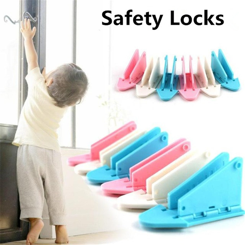 5PCS Safety Locks Baby Kids Safety Protection Guard Sliding Door Window Stopper Limiter Blocker Security Lock Latch Stoper Baby