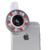 Led luz de relleno de teléfono selfie lentes 4 archivos de atenuación de flash clips de gran angular lente macro para iphone xiaomi samsung smartphone htc