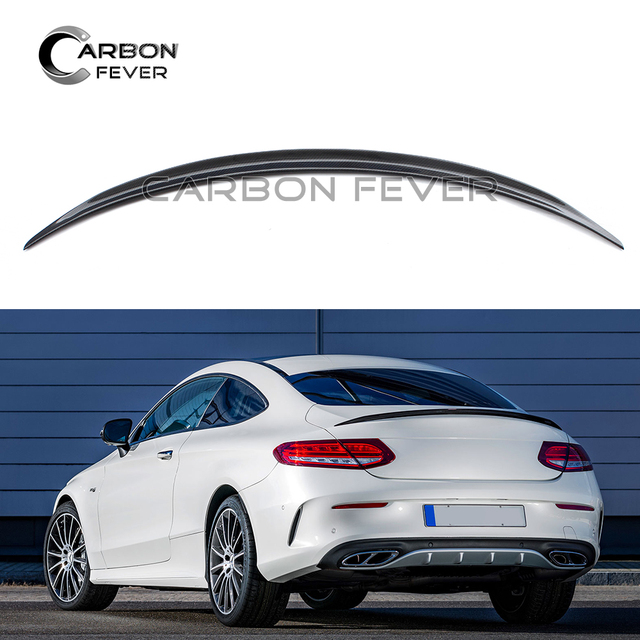 Us 149 66 For Mercedes C238 W238 Carbon Fiber Rear Trunk Spoiler 2 Door Coupe 2017 Tail Lid Wing In Spoilers Wings From Automobiles
