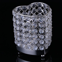 Hot selling Dining Crystal Table Candle Holder Fashion Wedding Home Or Bar Candle sticks