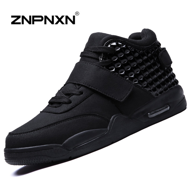 10 Colours Men Casual Shoes Fashions Men Shoes Luxury Brand Black High Top Flats Shoes For Men Boots Chaussure Homme ZNPNXN