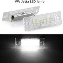 2 pz FIT FOR vw t5 Bianco 18 LED 3528 SMD Car Targa Della Lampada Per VW/Skoda/Passat B5 Caddy T5