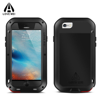 LOVE MEI Aluminum Metal Case For IPhone 6 6s 4 7 Inch Powerful Shockproof Waterproof Cover