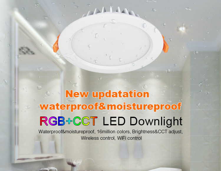 Lumière d'origine Mi IP54 étanche 15 W RGB + CCT LED Downlight Intelligent mince étanche panneau lampe sans fil WiFi APP contrôle