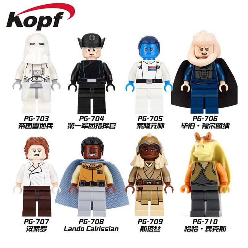 Star Wars Imperial Snowtrooper Commander Lando Calrissian Grand Admiral Thrawn Dolls Building Blocks Children Gift Toys PG8050