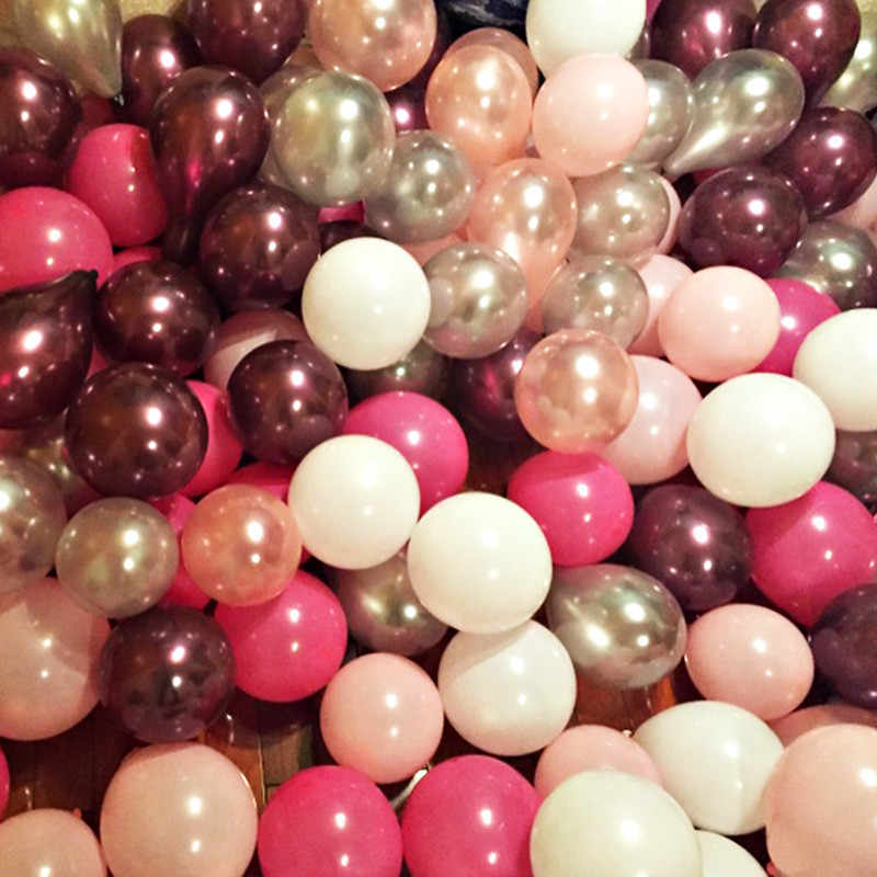 10pcs 12inch 2.2g Pink Macaron Latex Balloon Inflatable Toys Wedding Decorations Air Balls Happy Birthday Party Supplies Balloon
