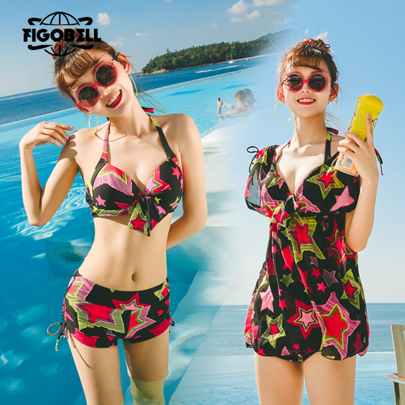 Sexy Print High Waist Swimsuit 2018 push up bikini thong Swimwear Women Vintage Biquini bathing suit cover ups Bandage Halter XL