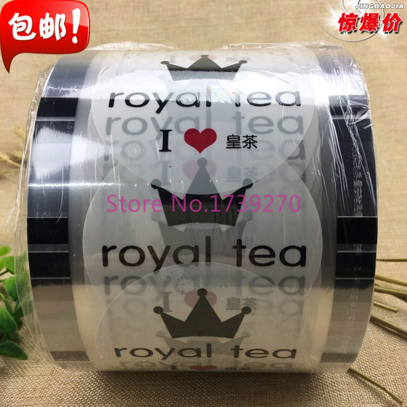 free shipping new design disposable plastic cup sealing film for diameter 90cm/95cm plastic cup,many patterns for choose sealing machine milk tea
