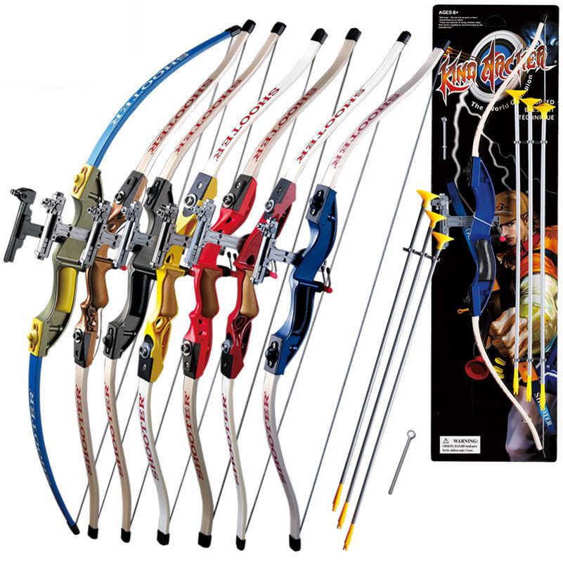 7 色吸盤を送信後ろに反らす弓と 3 個 scuker 矢印子供のための安全な屋外スポーツ撮影ゲーム狩猟の練習
