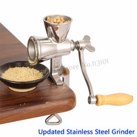 Updated Stainless Steel Flour Miller Coffee Bean Grinder Manual Corn Grinding Machine for Maize Flour with Hand Crank