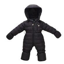 Baby Girl Clothes Winter Goose Down Jacket Jumpsuit Warm Child Duck Down Coats Boy Hood Little Children Newborn Kids bebek giyim