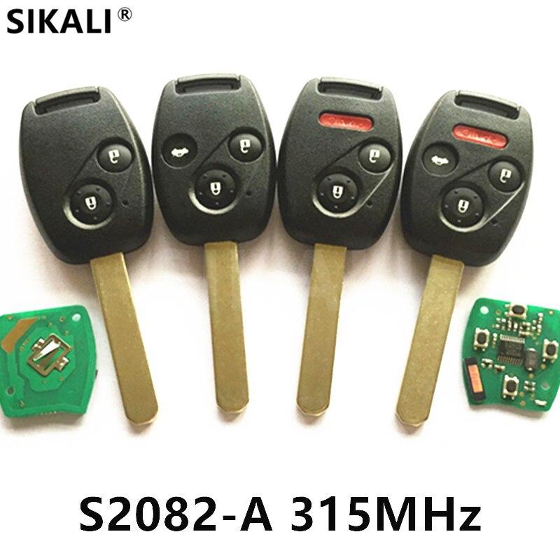 Автомобиль дистанционного ключа для S2082-A для Honda Accord CR-V HR-V Fit город JAZZ ODYSSEY Civic с ID46 (7961) чип частота 315 мГц