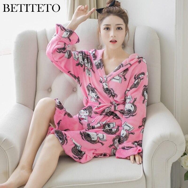 HaloSweet Winter Robe Female Kimono Towelling Bathrobe VS Peignoir Femme Bath Clothes Sleepwear Women Nightgown Dressing Gown