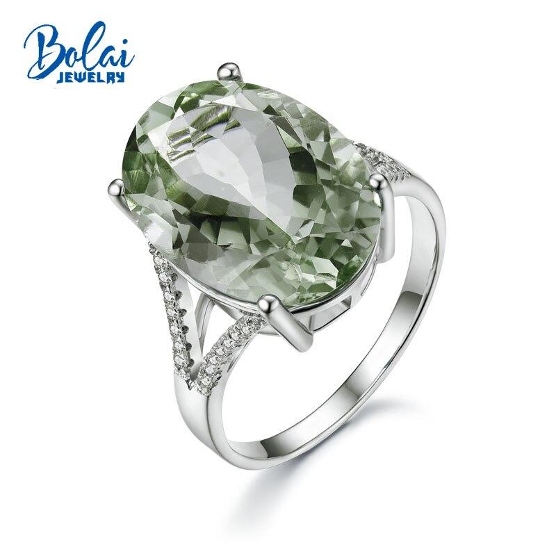 Takı ve Aksesuarları'ten Halkalar'de Bolaijewelry, büyük oval 13*18mm 13ct yeşil ametist taşı yüzük 925 ayar gümüş güzel takı kadınlar için güzel hediye eşi lady'da  Grup 1