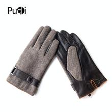 Pudi człowiek prawdziwej skóry rękawiczki zimowe ciepłe naturalna skóra owcza rękawice wysokiej jakości niska cena tanie tanio COTTON Linen Dla dorosłych Nowość Nadgarstek List