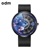 ODM Уникальный Дизайн Для мужчин часы Элитный бренд из натуральной кожи кварц женский любителей смотреть Водонепроницаемый часы DD171