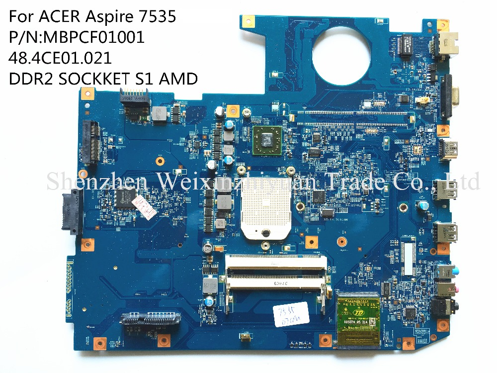 FOR ACER Aspire series 7535 laptop motherboard MBPCF01001 48.4CE01.021 SOCKET S1 100% tested
