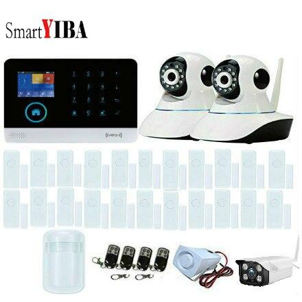 Cheap SmartYIBA Home Security IP Camera Wi-Fi Wireless Alarm System SMS Phone Call App Control 3G Alarm Door Window Sensor Alarm Kit