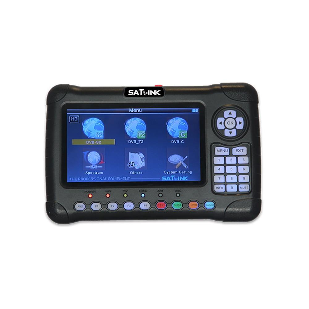 Image 4 - 7 inch HD LCD Screen Satlink WS 6980 DVB S2 DVB T/T2 DVB C Combo Satlink 6980 Digital Satellite Meter Finder Spectrum Analyzer-in Satellite TV Receiver from Consumer Electronics