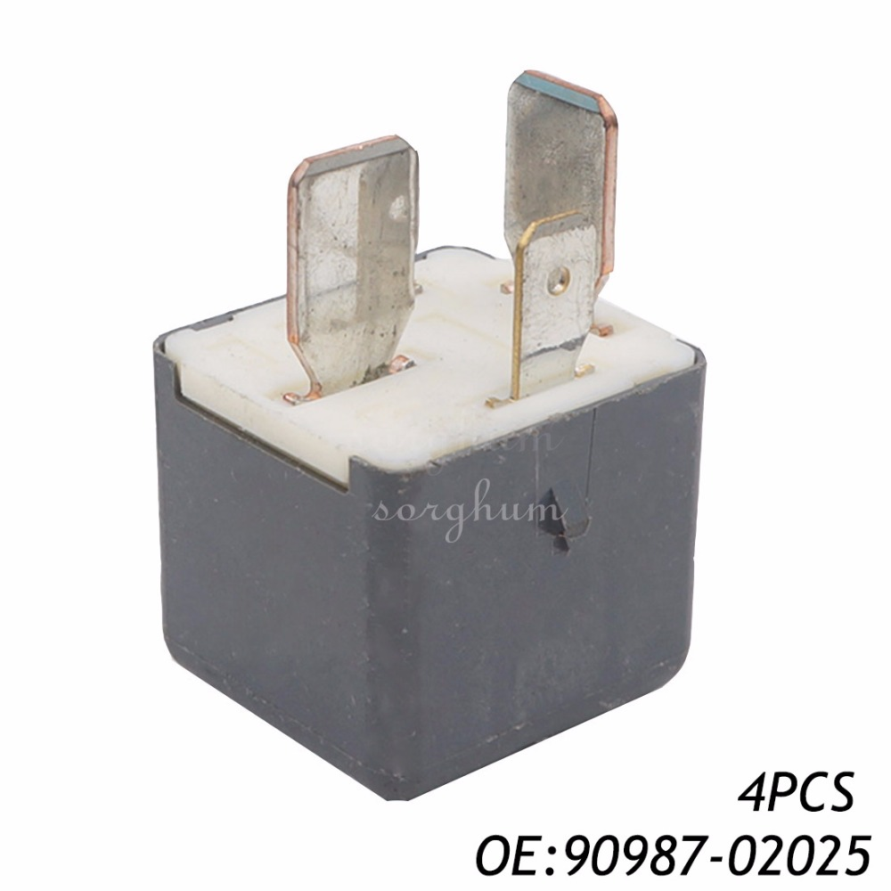 4PCS Relay for Toyota Landcruiser Lexus IS350 IS250 IS220 GS300 GS430 RX300 RX400 90987-02025 9098702025 ...