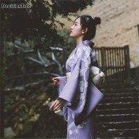 2019 new women's robe traditional kimono cos clothes japanese kimono cardigan japanese dragon embroidery kimono