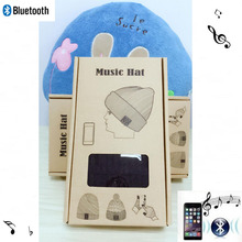 Bluetooth 4.2 Music Hat Headphone Headset Earphone for Women Men with Speaker Mic Supports TF Card, Package box, Christmas Gifts