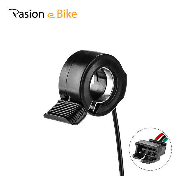 Pasion Ebike Thumb Throttle 36V 48V 72V Finger Electric Bike Thumb Throttle E Bike Speed Throttles Electric Bicycle Accessories