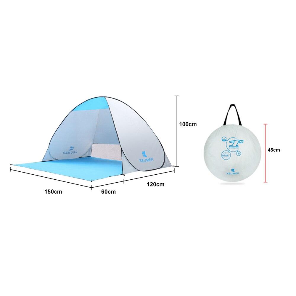 KEUMER 1-2 person Outdoor Strand Zelt Pop-up Öffnen Camping Angeln Zelt Tragbare Ultraleicht Wasserdicht UV-schutz Zelt Shelter
