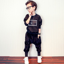 Autumn youngsters sweater 2017 new small Tong Long Sleeve Cotton Sweater T-shirt + small boy pants
