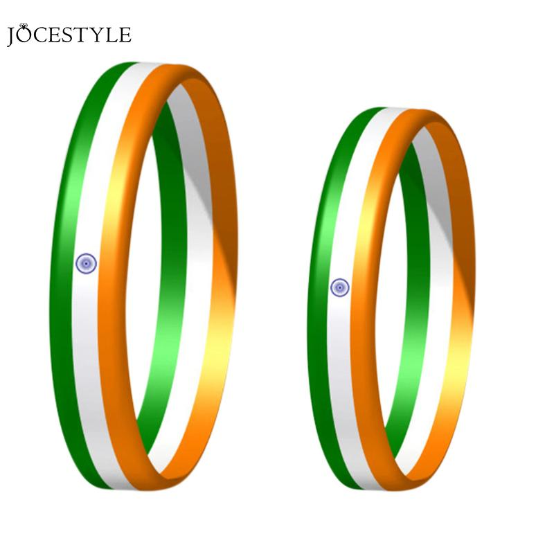 Parent and Kids Bracelets & Bangle Indian Three Colors Flag Gift Accessory Birthday Wristband Bracelet