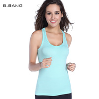 B BANG Fitness Sports Stripe Tank Top Women Tight Base Shirt Summer Slim Yoga Tops Vest