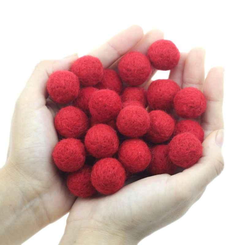 20 шт. 2 см шерстяные шарики новорожденных реквизит для фотосъемки круглый для маленьких девочек Diy праздничное украшение для комнаты