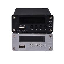 1PC ÁUDIO DAC PJ Miaolai T5 WAV MACACO FlAC Lossless Leitor de Música USB Descodificador Digital RAC Saída de Som do Amplificador análise
