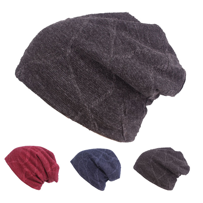 Winter   Beanie   Hats Scarf   Skullies     Beanies   Soft Skull Warm Baggy Cap Mask Gorros Winter Hats For Men Women Knitted Hat